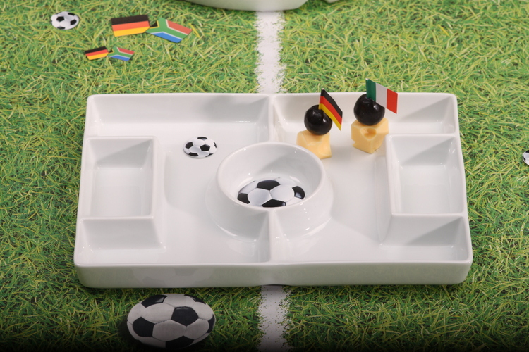Porcelain Football Platter-buy competently and for a good price!