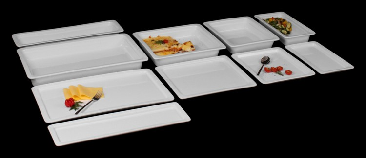 Porzellan GN-Platten Gastronormplatten günstig kaufen!