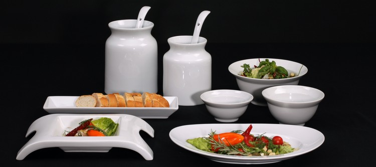 Gesundes Servieren auf Holst Porzellan!