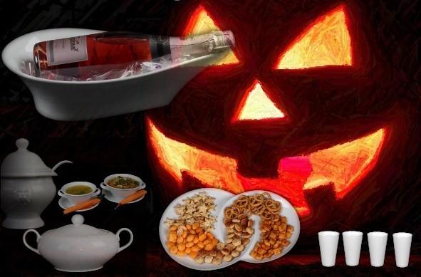 Weißes Porzellan zur Halloweenzeit!