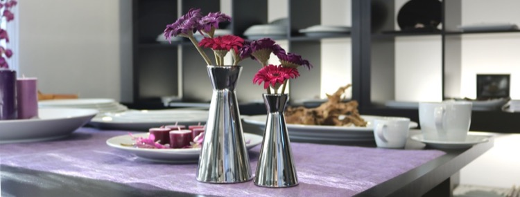 Porzellangeschirr in der Farbe silber günstig kaufen!