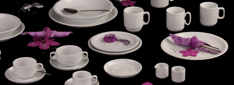 Buy porcelain for large catering competent and for a good price online!