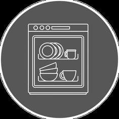 Spülmaschineneignung von Alumina Porzellan