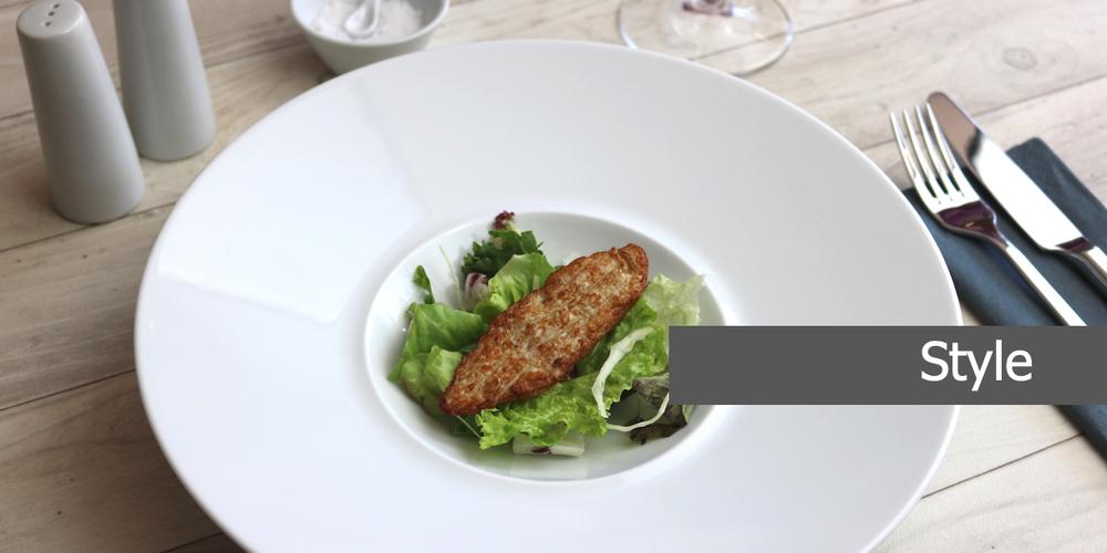 Geschirrserie Style aus hochwertigem High Alumina Porzellan