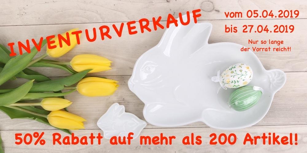 Inventurverkauf im Holst Porzellan Werksvrkauf!