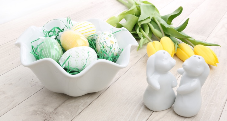 Osternester aus hochwertigem Porzellan.